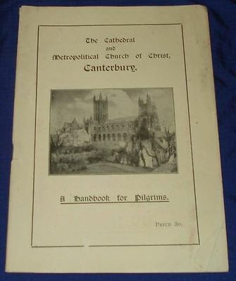 KM453 Vtg Cathedral Church Canterbury Travel Guide 1926