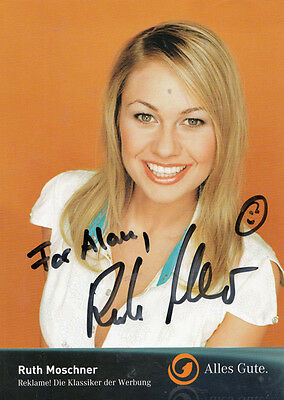 Ruth Moschner Germanys Got Talent German Big Brother Hand Signed Photo