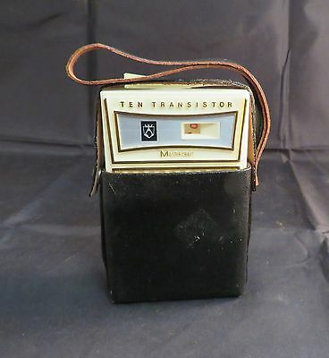 Vintage Ten Transistor Master Craft Radio w/ Black Case, Working Condition