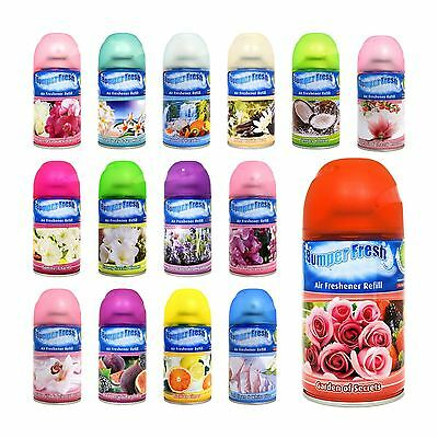6 x Bumper Fresh Freshmatic Max Automatic Spray Refill 250ml Freshener Scent New