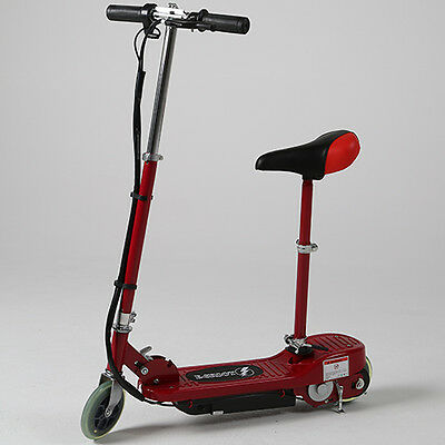 Kids Electric Scooter Red Racing Battery Powered Seat Charger Fun Toy Ride On