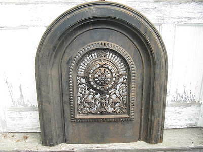 Antique Ornate Jackson's Ornate Arched Fireplace Surround With Insert US ONLY