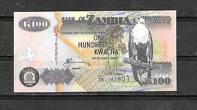 Zambia #38F 2006 Uncirculated 100 Kwacha Currency Banknote Bill Note Paper Money