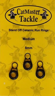 Catmaster NEW Catfish Fishing 8mm Stand Off Ceramic Run Rings