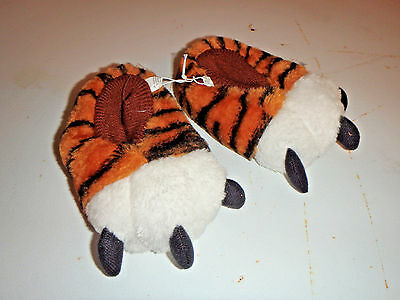 Toddler Tiger Paw Fuzzy Animal Slippers KIDS NEW  Size  S M L