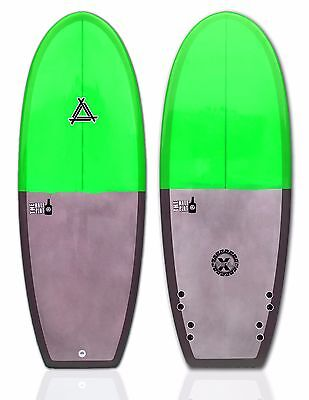 "Triple X ""The Half Pint"" 5' 2"" Epoxy Mini Simmons Style Surfboard/Green"
