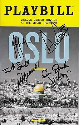 """""""Oslo"""" - Signed Playbill - Signed by Michael Aronov"""