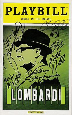 """""""Lombardi"""" - Signed Playbill - Signed by Judith Light"""
