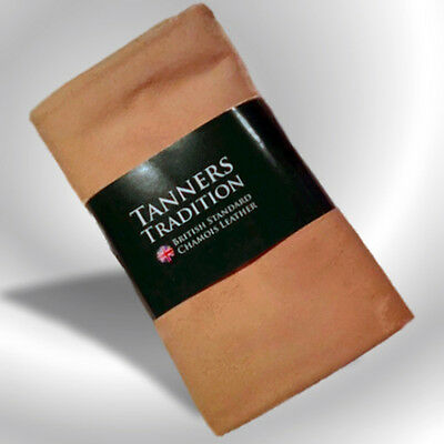 Tanners Tradition Genuine Large Chamois Shammy Leather Car Cleaning Cloth New