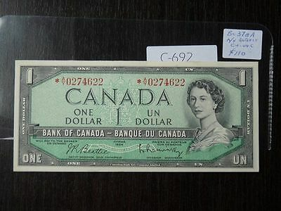 Canada Banknote 1954 1 Dollar Replacement Note  High Quality Value 110.00 C692