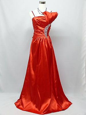 Cherlone Red Ballgown Wedding Evening Bridesmaid Full Length Formal Dress 8