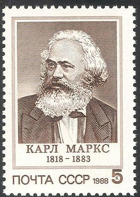 Russia 1988 Karl Marx/Politics/People/Politicians/Government 1v (n42981)