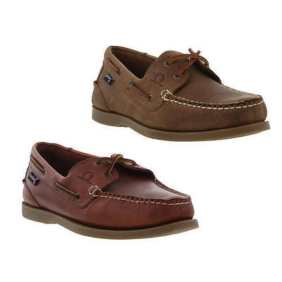 Chatham Deck II G2 Mens Brown Leather Sailing Boat Deck Shoes Size 8-11
