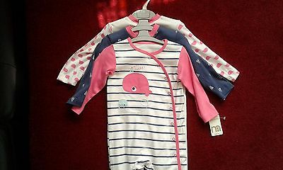 SET OF 3 Mothercare sleepsuits ,12-18 months, Brand New with tags