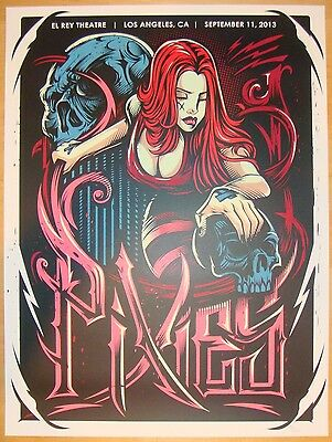 2013 The Pixies - LA III Silkscreen Concert Poster by Dayne Henry Jr.
