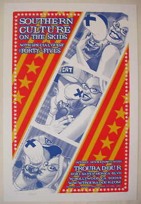 2002 Southern Culture on the Skids Silkscreen Concert Poster s/n by Brian Ewing