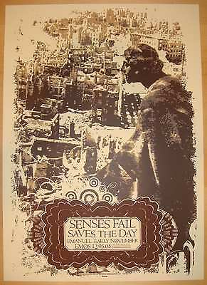 2005 Senses Fail & Saves the Day - Austin Concert Poster by Jared Connor s/n