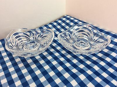 Pair Of Vintage Crystal Candle Holders
