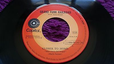 "Grand Funk Railroad ‎– Closer To Home , Vinyl, 7"" ,1970 , Spain ,1J 006-80.547"