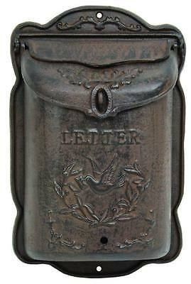 Cast Iron Mailbox Mail Box Wall Mount - Lockable