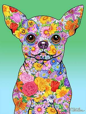 Large Indoor/Outdoor Flowers (TP) Flag - Chihuahua 96046