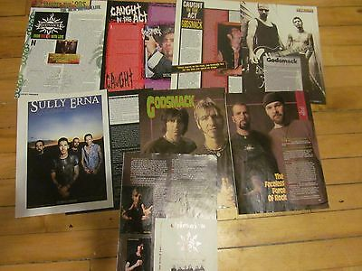 Godsmack, Lot of SIX Full, Two and Three Page Clippings