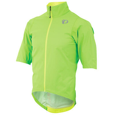 Pearl Izumi P.R.O. Short Sleeve Bike Rain Jacket Screaming Green 2018