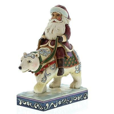 Heartwood Creek 4058784 Bear With Me Santa Riding Polar Bear