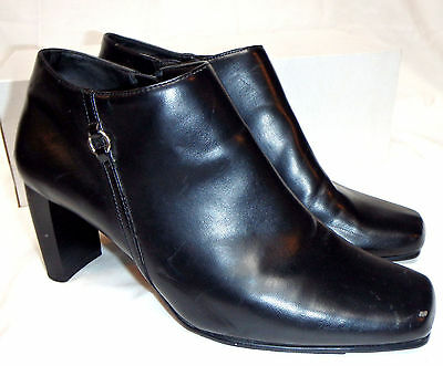 NO CALL Women's black ankle boots  shoes  Heels 7.5 Wide