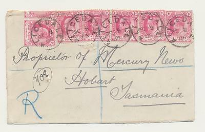 "Cape Of Good Hope - Tasmania 1905 Reg. Cover, ""alicedale"" Cds, ""midland Tpo#1"""
