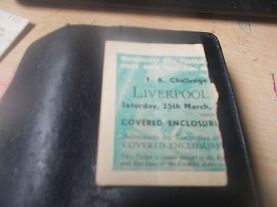 1950 F A Cup Semi Final Ticket Stub Liverpool V Everton At Manchester City