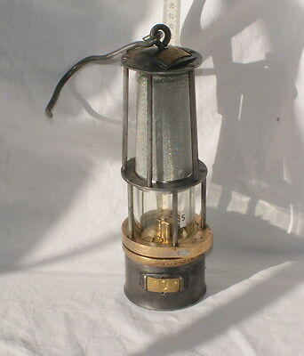 N°5. Wetterlampe Grubenlampe Brass Miners Safety Lamp Old Miners Lamps