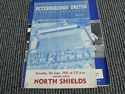 Peterborough United V North Shields 1959-60