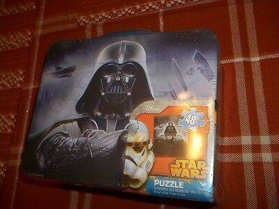 Star Wars Metal Lunch Box With Puzzle New Sealed
