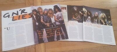 GUNS N' ROSES 'lies' 7 page UK ARTICLE / clipping