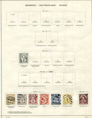 SWITZERLAND 1882-1934 Used COLLECTION on pages 220 Stamps