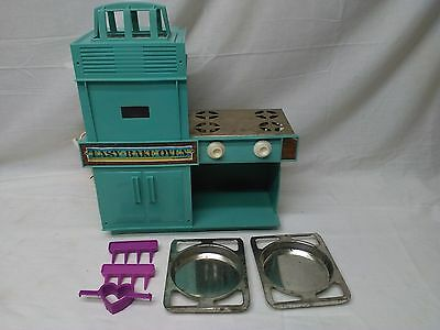 Vintage 1964 Aqua Easy Bake Oven w 2 pans by Kenner Works Turquoise Clean & Nice