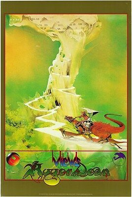 ROGER DEAN ~ GREEN CASTLE 24x36 FANTASY ART POSTER Print NEW/ROLLED!