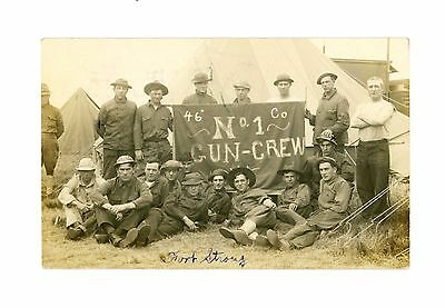 WWI 46th Company No. 1 Gun Crew Fort Strong Boston, Massachusetts pm 1917