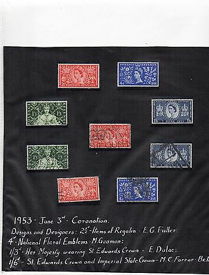 G.B. - Collection - QE2 to 1969 - H. Mint/ Used Sets - 570(+) stamps -30 sheets
