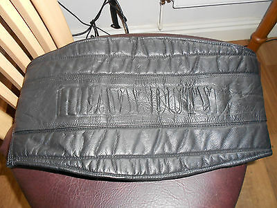 Black Leather Motorcycle Kidney Protector - Size L/XL