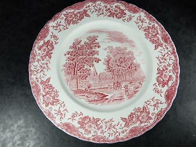 ROYAL TUDOR WARE 'OLDE ENGLAND' Pink DINNER PLATE,Scalloped, 27cm