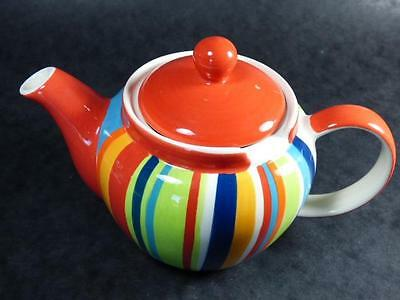 WHITTARDS VERTICAL STRIPE TEAPOT, Multicolour,1pt. capacity, Retro Style
