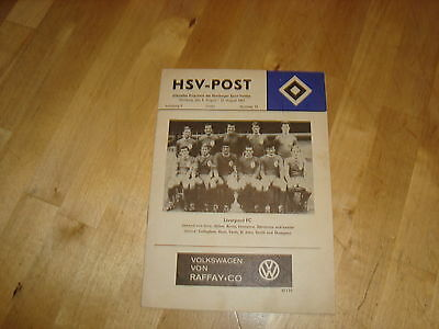 Hamburg v Liverpool Aug 1967 Friendly