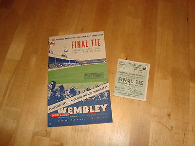 Leicester v Wolves 1949 FA Cup Final + ticket