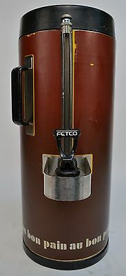 Fetco Luxus TPD-15 1.5 Gallon Thermal Hot/Cold Beverage Dispenser Cracked Top