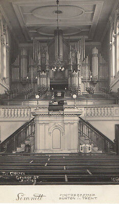 The Organ George Street Burton On Trent Church By Local Camera Man Old Postcard
