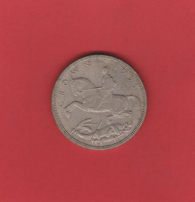 Uk 1935 Silver Crown Coin
