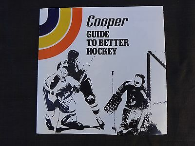 "Vtg Cooper ""Guide To Better Hockey"" Sales Brochure & Equipment Catalog Canada NR"
