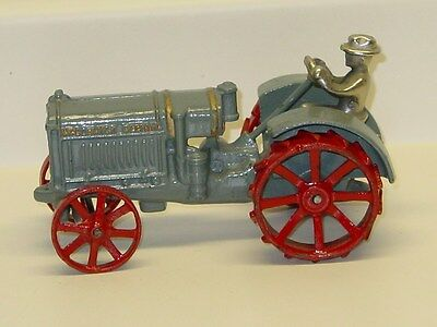 Vintage Cast Iron McCormick Deering Tractor With Driver, Farm Toy
